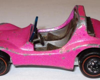 Hot Wheels Redlines 1969 Dune Daddy Buggy Pink