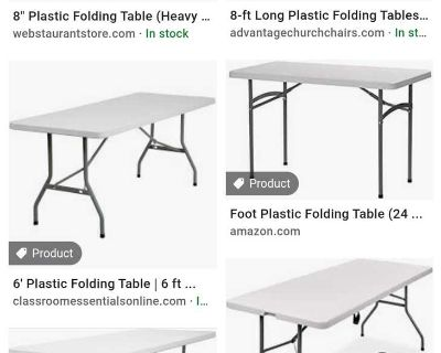ISO plastic tables