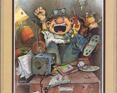 """Gary Patterson Print """"SUPER FAN"""" 1980 Thought Factory # 81095 - in Sealed Wrap"""
