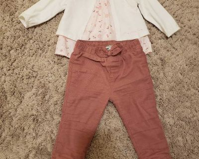 Lined pants and top 6-12m