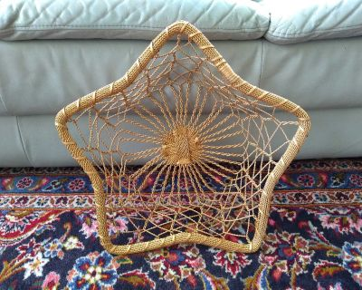 Gold Toned Metal Woven Star Basket