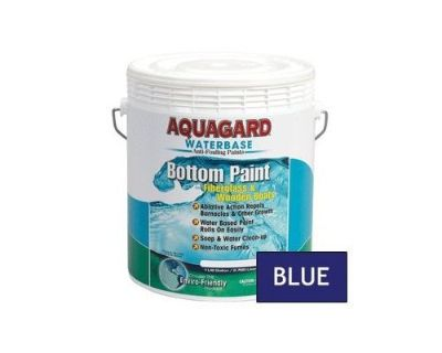 Aquagard Waterbase Antifouling Bottom Paint Fiberglass/wooden Boats Blue Gallon