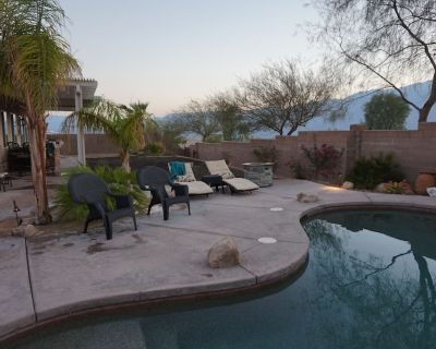 Entertainment House w/ Spectacular Mountain & Sunset Views, Private Pool & Spa - Desert Hot Springs