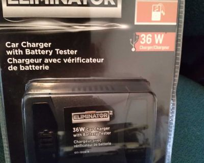 Car charger with Battery tester