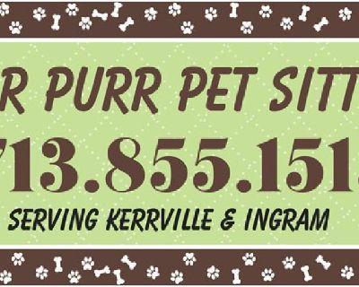 Pet Sitting Serving Kerrville & Ingram