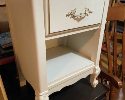 French provincial bed side table