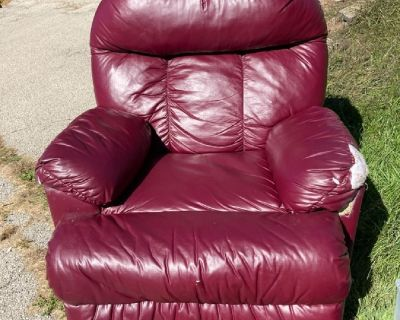 Reddish Maroon recliner chair