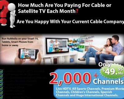 2000 PLUS HD CHANNELS AND MORE FOR UNDER $50/FREE