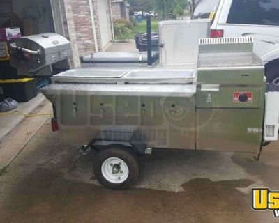 2020 Bens Carts CaterPRO Stainless Steel  Towable Hot Dog Grill Street Food Vending Cart