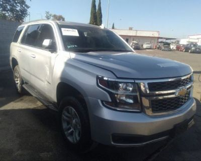 Salvage Silver 2018 Chevrolet Tahoe