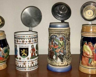 1894 Western Germany Beer Steins