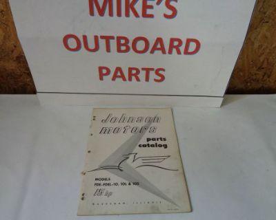 """1956 Johnson Parts Catalog 15 Hp """"b"""" Motors @@@check This Out@@@"""