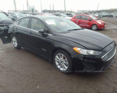 Salvage Black 2019 Ford Fusion Hybrid