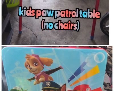 Kids paw patrol table only