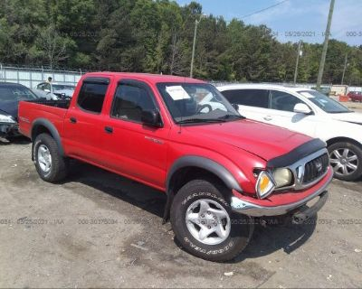 Salvage Red 2003 Toyota Tacoma