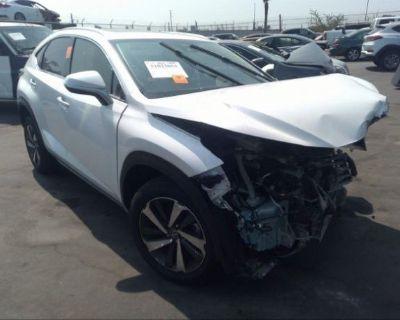 Salvage White 2021 Lexus Nx
