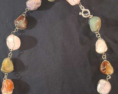 Sterling Silver necklace with stones