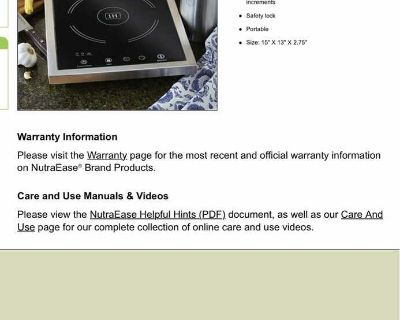 NutraEase induction cooktop.