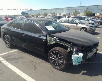 Salvage Green 2021 Toyota Camry