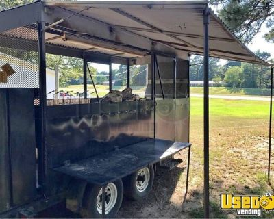 Loaded Open Barbecue Smoker Tailgating Trailer / Mobile BBQ Unit