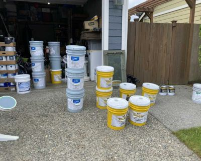 Tons of unopened paint!