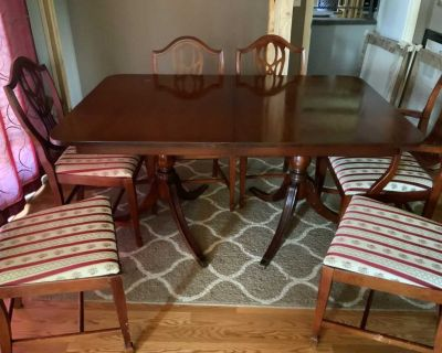 Antique Cherry Dining Table and 6 chairs