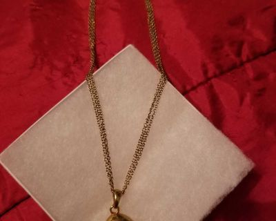 Gold Heart on Two Strand Chain