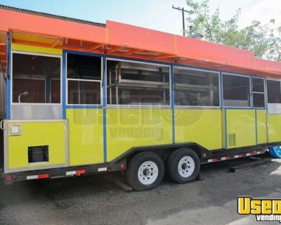 Fully-Loaded New Build 2015 32' Kitchen and Catering Food Trailer
