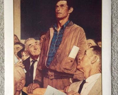"Norman Rockwell ""Freedom of Speech"" Vintage Print - No. 11955 - 1990"