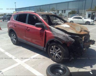 Salvage Red 2016 Toyota Rav4