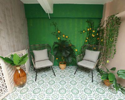 DTLA Jungle Room: Antique Boho Room, Los Angeles, CA