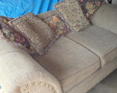 Large Living Room Couch and Love Seat