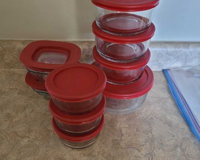 Glass food storage containers