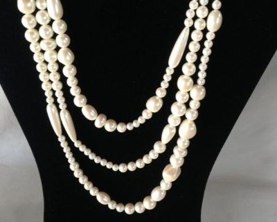 """Pearl Necklace - Richelieu Simulated Pearl - w/Tag - 54"""" Long"""