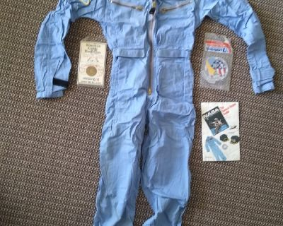 Space camp suit, vintage, with patches and coin