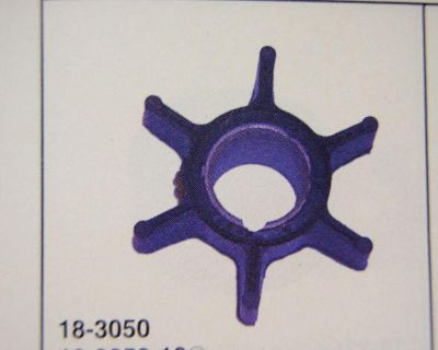 Water Pump Impeller 18-3050 Johnson Evinrude Omc Replaces 386084 Outboard Parts