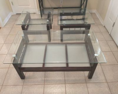 Contemporary Coffee Table and End Tables