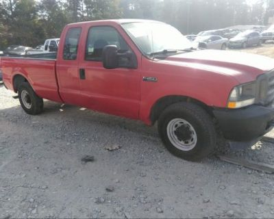 Salvage Red 2003 Ford Super Duty F-250