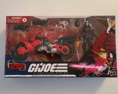 "Hasbro G.I. Joe Cobra Island Classified Series #13 Baroness with Cobra COIL 6"" line New in box GIJoe"