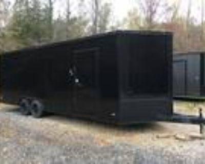 On Order Now! 8.5ft X 24ft Tandem Enclosed Car Hauler, Pop-Up Escape Door, 7ft 5
