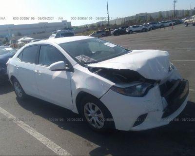 Salvage White 2016 Toyota Corolla
