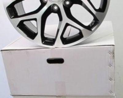 "20"" Gmc Yukon Sierra Chevrolet Silverado Factory Style Black Machined Rims 5668"