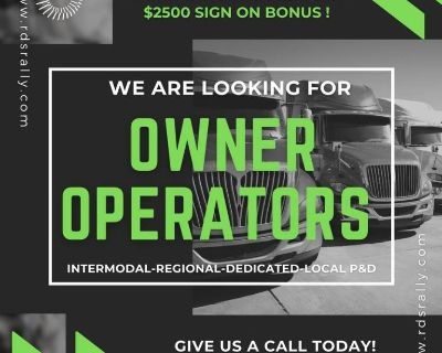 Class A Driver Owner Operator Dedicated Account ( Apple Valley) SIGN ON $$$