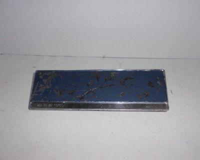 65-9 Corvair Radio Delete Plate