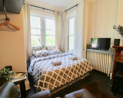 Quiet and Charming Luxury Studio, King Bed, Close to Capitol & Supreme Court - Stanton Park