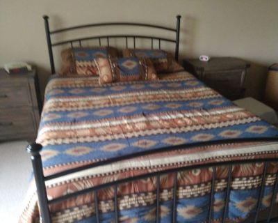 Metal bed frame...frame only