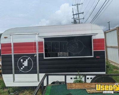 BRAND NEW Vintage Camper-Style Basic Vending Concession Trailer