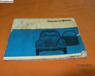 1970 bug owner's manual