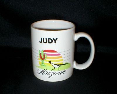 "Arizona Souvenir Coffee Mug - ""JUDY"" - Ceramic - Made in USA"