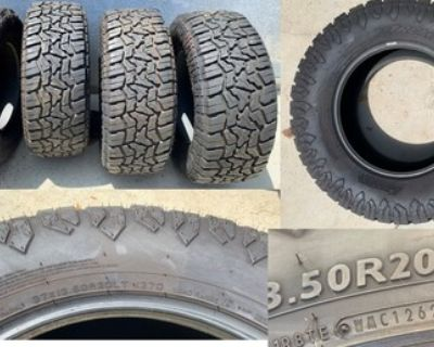 4 4WP Extreme R/T 37x13.5R20 tires- E rated 65psi- nearly new!